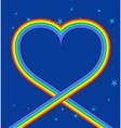 Heart of rainbow in sky LGBT symbol of love Blue vector image