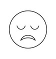 sad face outline icon isolated lined vector image