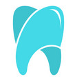 upper tooth logo icon flat style vector image