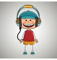 kid headphones music icon vector image