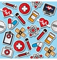 Medical color pattern vector image