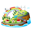 A colorful village vector image