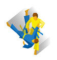 two judo fighters isolated on white background vector image