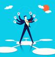 multitasking businessman concept art vector image vector image