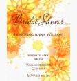 Bridal shower invitation template vector image