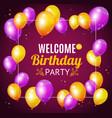 birthday invitation card vector image vector image