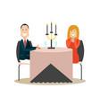restaurant guests in flat vector image