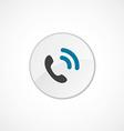 call icon 2 colored vector image