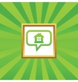 House message picture icon vector image