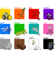 primary colors cartoon set vector image