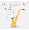 Musical instruments graphic template Saxophone vector image