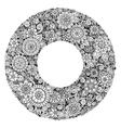 Black and white mandala flower ornament vector image