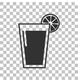 Glass of juice icons Dark gray icon on vector image