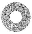 Black and white mandala flower ornament vector image