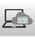 cloud computer connected web page vector image