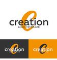 creation logo letter c logo logo template vector image