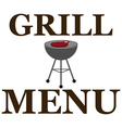 Design grill menu with barbecue vector image