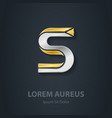 Letter S Template for company logo 3d Design vector image
