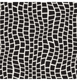 Seamless Black And White Distorted Pavement vector image