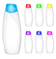 Set of shampoo bottles vector image
