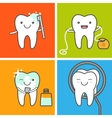 Teeth care and hygiene icons vector image