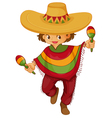 Man Traditional Mexcian Dress vector image