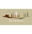 Toskana xs vector image