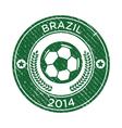 Grunge Soccer Brazil Emblem vector image