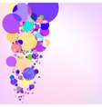 Purple background with bubbles EPS 10 vector image