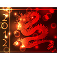 Chinese dragon light effects vector image