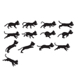 Black Cat Jumping Sprite vector image