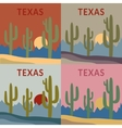 Texas t-shirt design set vector image