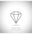 gem icon vector image vector image