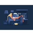 Blond woman relaxing vector image