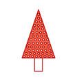 christmas tree pine decoration celebration party vector image