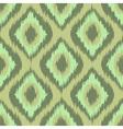 Colorful fabric ikat diamond seamless pattern vector image