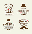 happy father day labels logo collections vector image