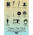 Set of tailor shop black items vector image
