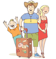 Tourists Family vector image