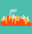 - the silhouette of the city in a flat style vector image