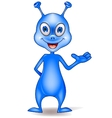 Blue alien cartoon vector image