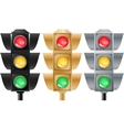 Set of stoplights vector image
