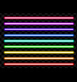 neon tube light pack isolated on transparent vector image