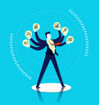 business man multitask concept vector image vector image
