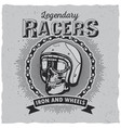 lagendary racers poster vector image