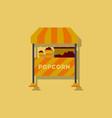 popcorn shop in sticker style vector image vector image
