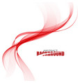 Abstract red wave vector image
