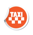 taxi sign orange sticker vector image vector image