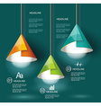 Iinfographic Template with Light bulb vector image vector image
