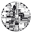 monochrome town vector image vector image